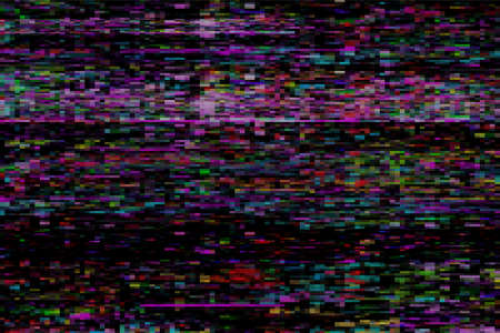 Glitch colorful abstract vector background. Digital image data distortion, signal error, television fail,digital decay. Trendy design wallpaper,poster,brochure cover, website.