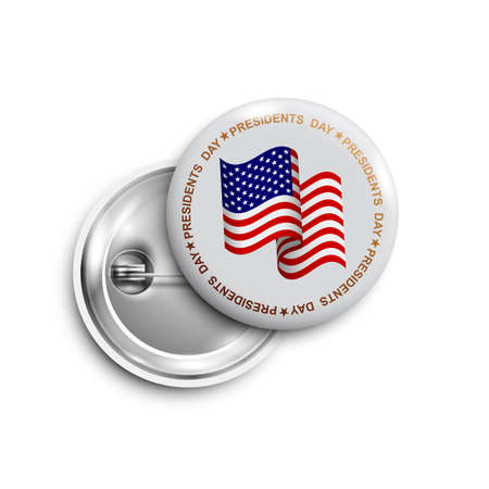 Happy Presidents day button, badge, banner isolated.