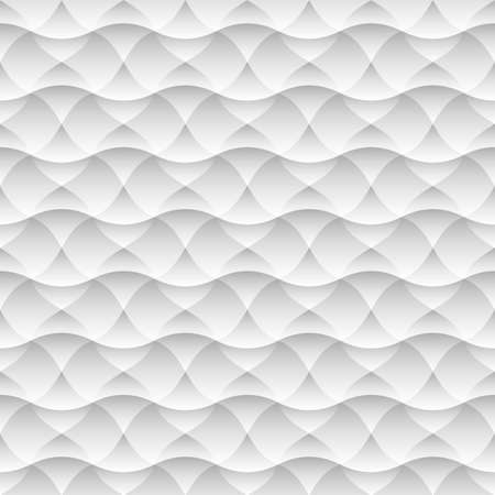 Geometric white seamless pattern background of abstract waves. Vector background. Grey and white texture, graphic pattern, wallpaper Imagens - 95998348