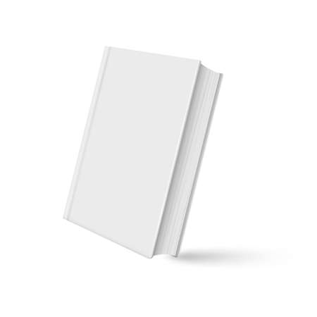 Book mockup realistic with shadow on white background. Vector illustration. - Vector