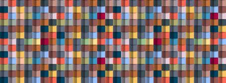 Geometric abstract colorful background, 3D effect, trendy colors. Creative modern wallpaper. Vector Design Concept - Vector Ilustração