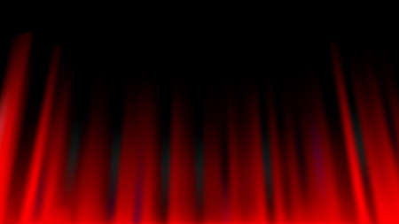 Red curtain abstract background, theatrical drapes. Vector illustration. - Vector