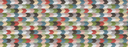 Abstract geometric  background, 3D effect, retro colors. Colorful modern wallpaper. Vector Design Concept - Vector