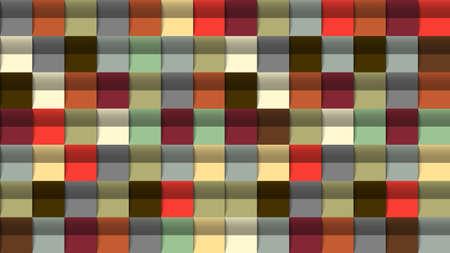 Geometric abstract background, 3D effect, retro colors. Creative modern colorful wallpaper. Vector Design Concept - Vector Ilustração