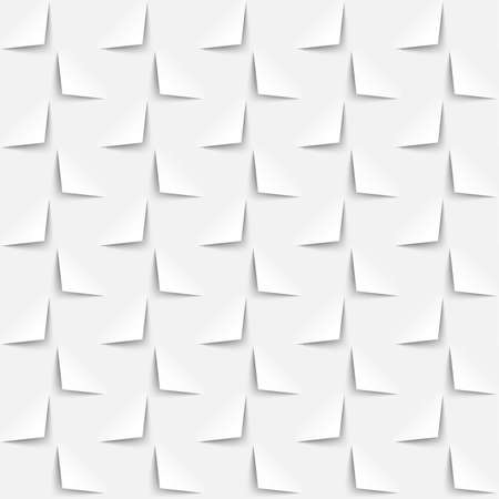 White background 3d paper style, seamless pattern. Vector abstract geometric wallpaper