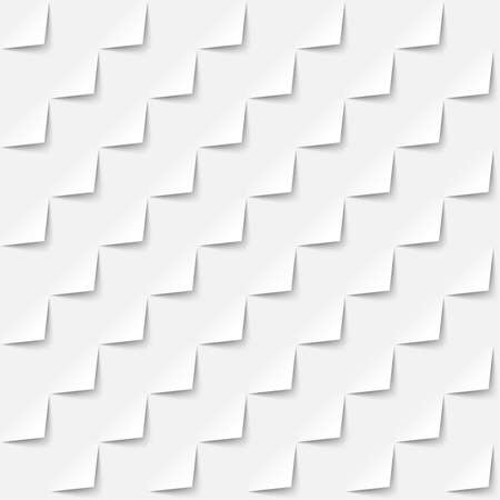 White abstract background 3d paper style, seamless pattern. Vector geometric wallpaper Ilustração