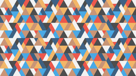 Seamless geometric triangles colorful pattern background. Trendy vector wallpaper