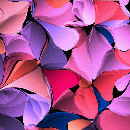 Multicolor gradient abstract geometric flowers, vector background.Colorful texture. Can be used for trendy wallpaper, ad, booklets, posters, flyers, web design