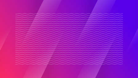 Landing page with waves, gradient abstract vector background. Futuristic minimal style digital illustration. Modern abstract pattern for wallpaper, flyer design, website, web banner