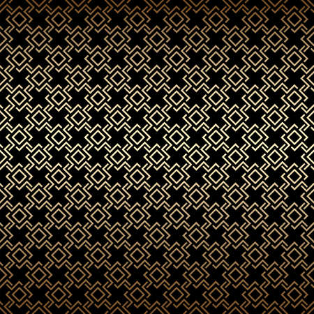 Golden and black seamless pattern, art deco style. Luxury decorative ornament. Vintage vector background, wallpaper. Gold geometric shapes, elegant retro texture