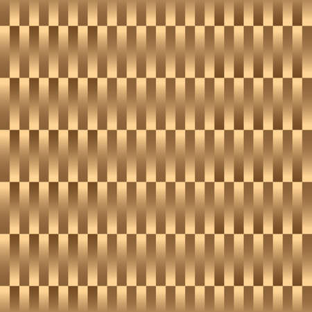 Gold luxury striped seamless pattern, golden texture wicker. Repeating vector background, trendy gold wallpaper Ilustração