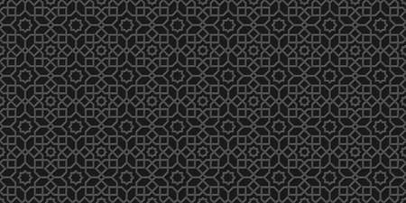 Black islamic background, arabic pattern,carved style.Monochrome  arabian wallpaper. Geometric ornament  3d style vector. Texture east traditional motif