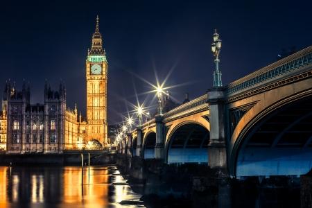 Big Ben Torre del Reloj y la casa del Parlamento en Westminster, Londres, Inglaterra, Reino Unido
