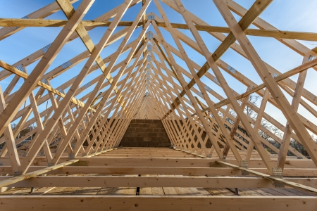 joist: new home currently under construction