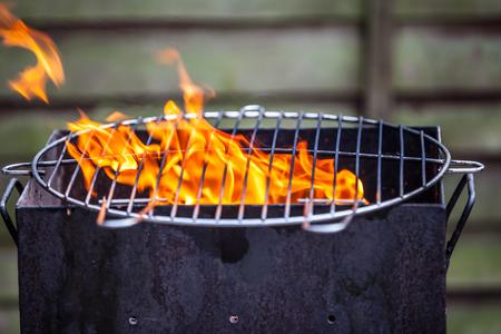 scored: lamb chops on grill Stock Photo