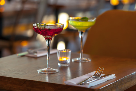 table set restaurant Фото со стока