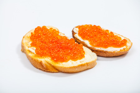 Red caviar sandwiches Фото со стока - 29919078
