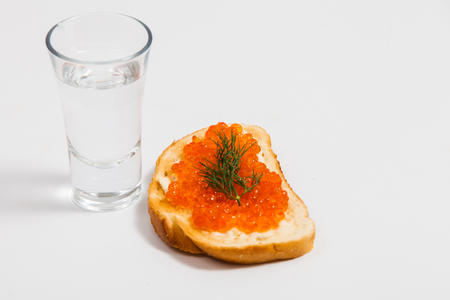 Roter Kaviar Sandwiches Standard-Bild - 29919116