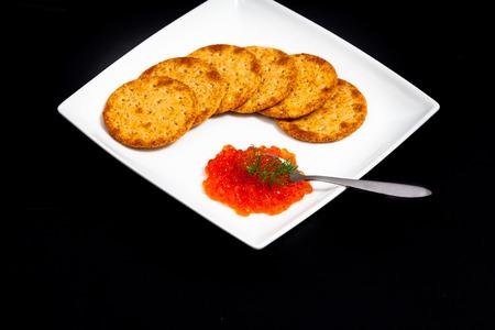 赤キャビア サンドイッチ