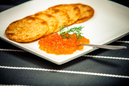 Red caviar sandwiches Фото со стока - 29919375
