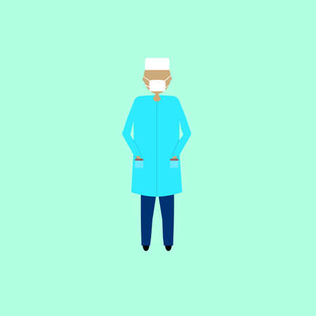 Doctor, vecto illustration in flat design Illustration