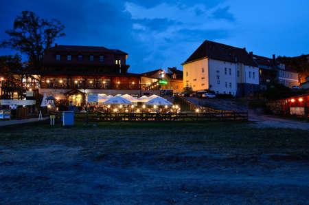 masuria: POLAND, Restaurant  Gosciniec Rynski Mlyn in Ryn (Masuria), 5 Aug. 2014