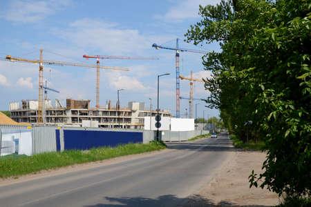 sports hall: Construction of sports hall Stock Photo