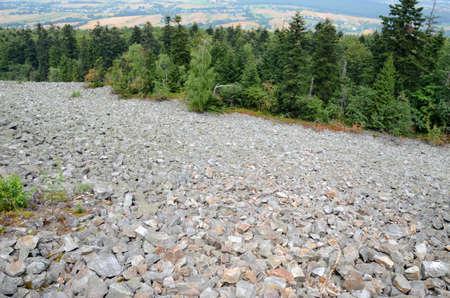 gory: Mountains in Poland (Gory Swietokrzyskie, Lysa Gora) Stock Photo