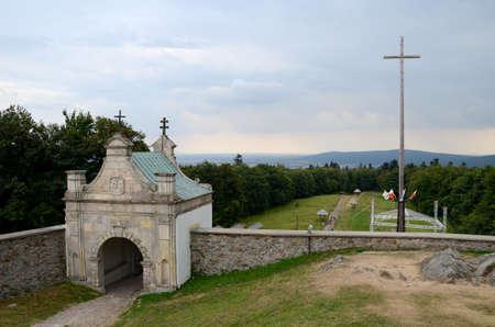 monastery: Gate to the monastery Stock Photo