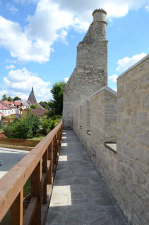 fortify: City wall (Szydlow in Poland)