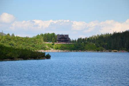 morskie: Lake in mountains (Morskie Oko in Tatras, Poland) Stock Photo