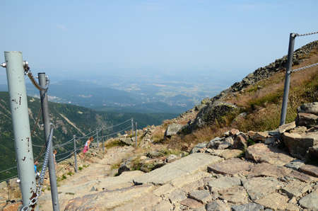 sudeten: Mountain trail - Giant Mountains in Poland