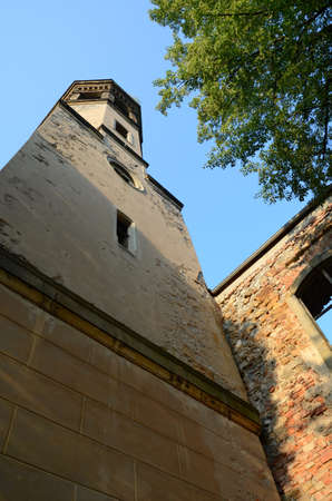 sudetes: The ruins of the old church Milkow near Karpacz in Poland