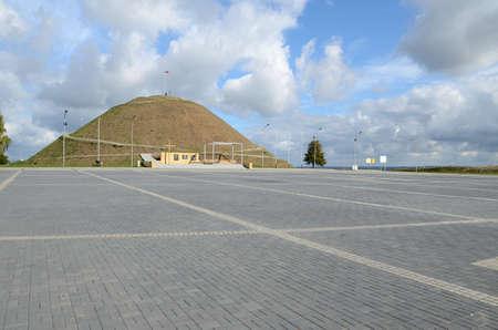 slashed: Mound of liberation in Piekary Slaskie Poland