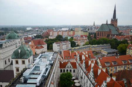 bristle: View of the Szczecin in Poland - Pomeranian Dukes Castle Editorial