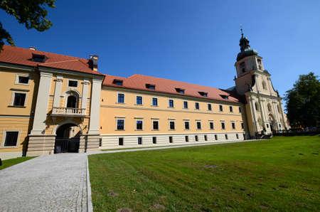 rudy: Cistercian Abbey in Rudy near Raciborz in Poland Stock Photo