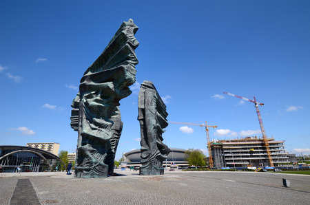 Silesian Insurgents Monument in Katowice, Poland Editorial