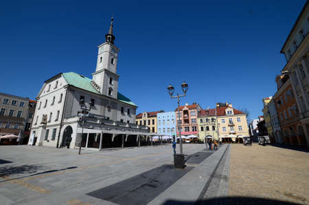 faade: Market square with the town hall in Gliwice, Poland
