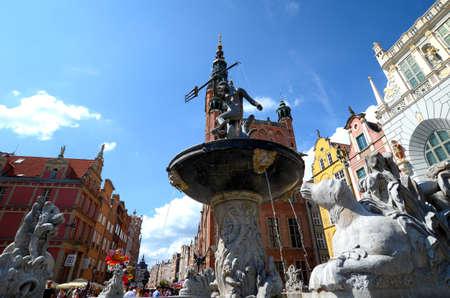 Neptune's Fountain, Gdansk, Polen