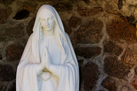 saint: saint Mary statue in cave