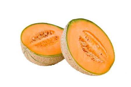 Melon on the white background photo