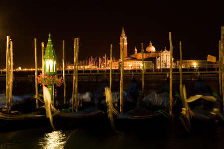 Venice by night. View from St. Marks square. photo