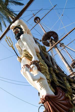genoa: Old sailing vessel in Genoa
