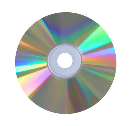compact disk: Compact disk isolated over white