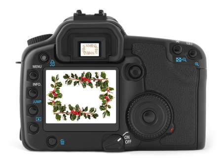 Back of professional digital photo camera photo
