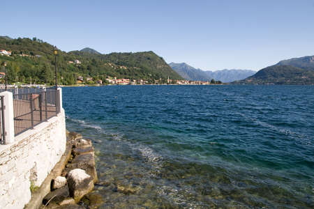 Orta lake (environs of Pella, Italy) photo