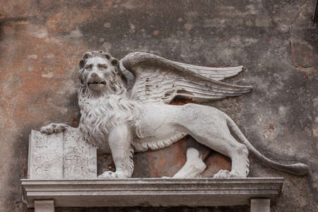 winged lion: Sculpture of a winged lion, symbol of Venice