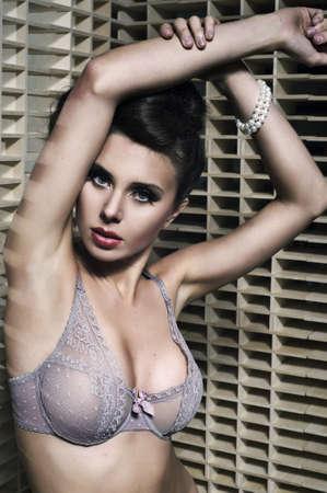 ropa interior femenina: Belleza de la mujer atractiva en ropa interior