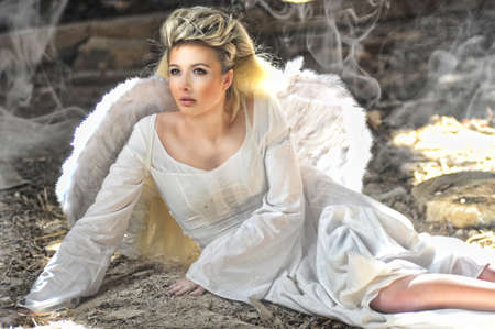 Beautiful angel woman photo