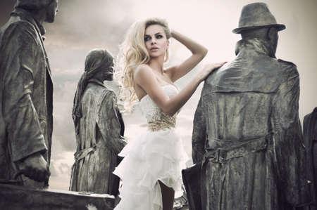 Fashion shot of a young woman photo